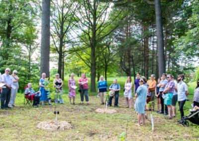 2019 Tree Dedication for Past Presidents John Smith and Kathleen Petrie