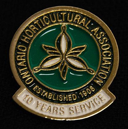 oha service pin, 10 years