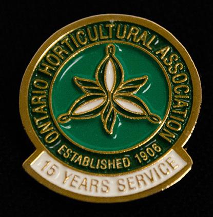 oha service pin, 15 years