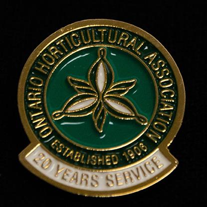 oha service pin, 20 years