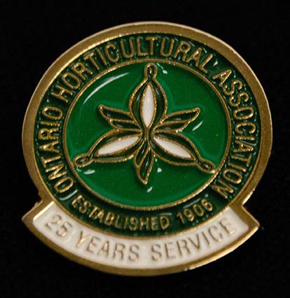 oha service pin, 25 years