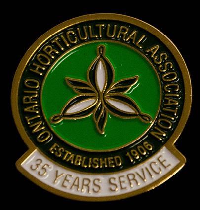 oha service pin, 35 years