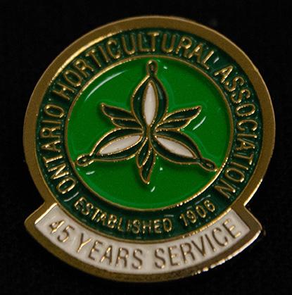 oha service pin, 45 years