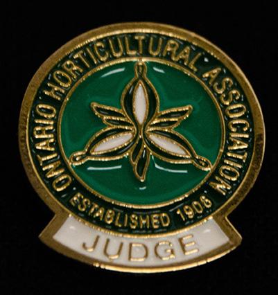 oha service pin, Judge