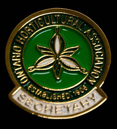 oha service pin, secretary